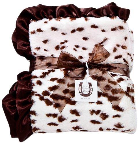 (Max Daniel Baby Throw Blanket, Pink Snow Leopard)