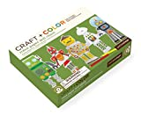 Petit Collage Paper Doll Chain Craft and Color, Robot
