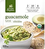 Simply Organic Guacamole Dip Mix | Just Add Avocados | Certified Organic | 4 oz. (Pack of 6)