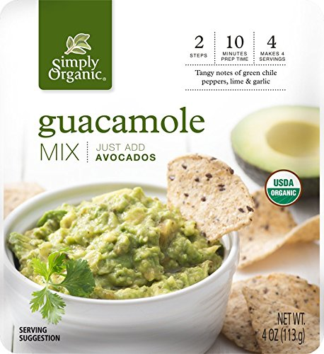 Cilantro Dip Mix (Simply Organic Guacamole Dip Mix, 4 Ounce (Pack of 6))