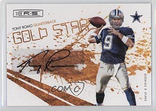 (Tony Romo #8/9 (Football Card) 2009 Donruss Rookies & Stars - Gold Stars - Signatures [Autographed] #5)