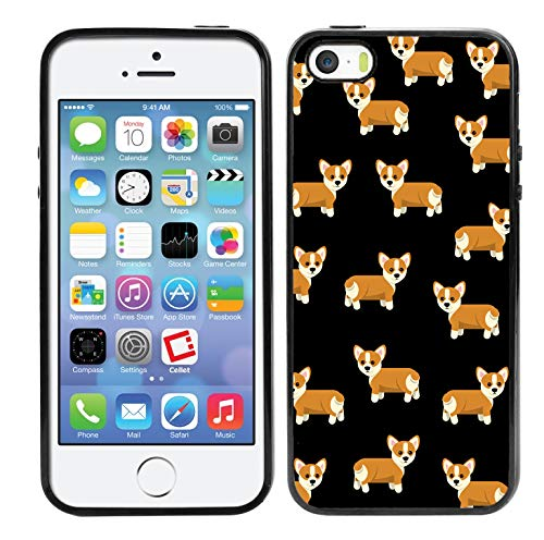 brand new 9ff50 c82b3 Matcase for iPhone 5 Case iPhone 5S Case iPhone SE Case - Corgi Dog Pattern  Hard Clear Transparent Anti Scratch Resistance with Full Protection TPU ...