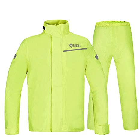 Amarillo fluorescente Traje de impermeable para adultos ...