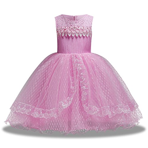 Little Girl Dresses for Christmas 18-24 Months Costume Fancy Dress Size 1 Age of 2 Lace Tutu Pink Christmas Knee Length Ball Gown First East Special Occasion Elegant A-Line Outfits (Christmas Fancy Dress Costumes Size 20)