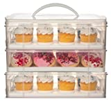 Snapware 3 Layer Cupcake Cookie Cake Dessert Carrier