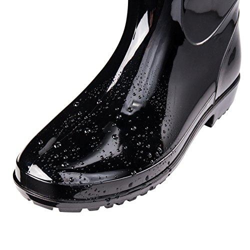 d42ca5f9075 Comwarm Men Waterproof Snow Rain Boots Anti-Slip PVC Black Adult ...