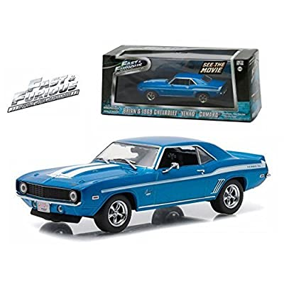 Greenlight New 1:43 Fast & Furious Brian's 1969 Blue Chevrolet YENKO Camaro Diecast Model Car: Toys & Games