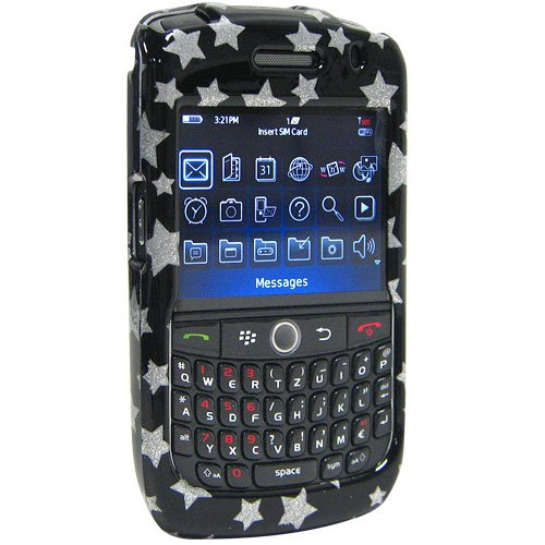 Amzer Snap-On Case for BlackBerry Curve 8900 - Stars Black