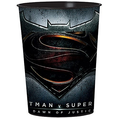 12 Pack Batman v Superman: Dawn of Justice Reusable Keepsake Cups 16 oz. Favor Containers