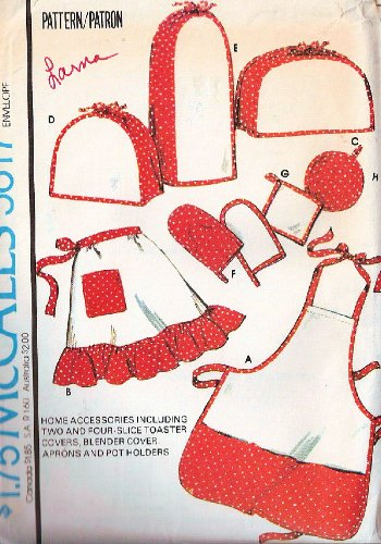 McCalls 5617 Aprons, Pot Holder, Appliance Covers - Vintage Sewing Pattern ()