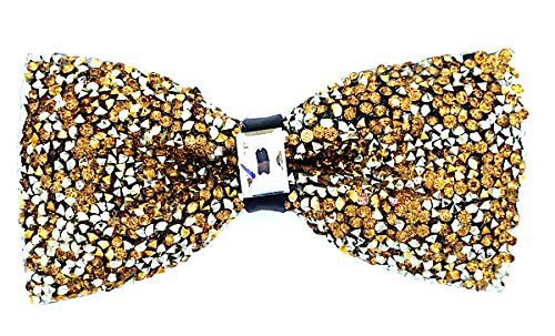 Oliver George Glitter Bow Tie (Gold)-G100-M from Oliver George