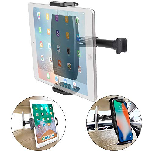 """(Car Seat Mount Cradle Holder, TAKAGI 360°Rotating Tablet Holder Sedan Backseat Seat Mount for Compatible with iPhone/iPad/Galaxy Tab/Kindle Fire/Nintend/for 4.7""""-13.5"""