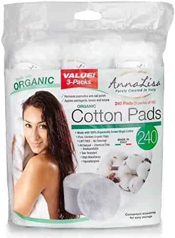 Pure Organic Cotton Pads Rounds Pads (240ct)