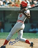GEORGE FOSTER CINCINNATI REDS NL MVP 1977 SIGNED AUTOGRAPH BAT 8X10 PHOTO W/COA