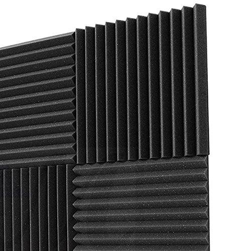 acusticos Paneles de Espuma de ingenieria Paneles cunas de Esponja de Aislamiento acustico 30 2.5cm 30 REFURBISHHOUSE 12 Pack