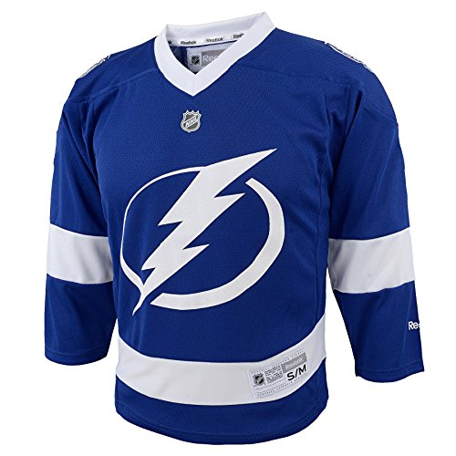 OuterStuff NHL Tampa Bay Lightning Stamkos #91 Boys 4-7 Team Replica Player Jersey, One Size, (Jersey Boys Tampa Bay)