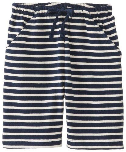 JoJo Maman Bebe Baby Boys' Bermuda Shorts, Navy/Ecru Stripe, 12 18 Months