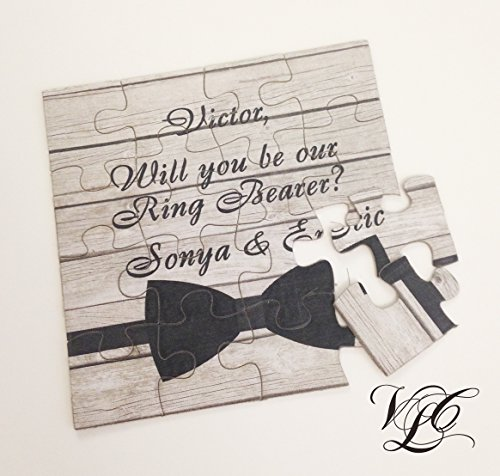 Will You Be Our Ring Bearer puzzle, Ring Bearer Invitation puzzle, Ask Ring Bearer, Rustic wedding, Personalized Ring Bearer proposal PRB001