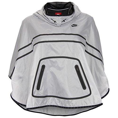Nike Women's Tech Poncho Jacket, White/Black, Medium by NIKE