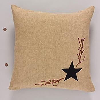 Amazon Country House Black Star Burlap Accent Throw Pillow 40 Beauteous Burlap Star Decorative Pillow