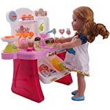 ZWSISU Cooking dining car for 14inch American girl Wellie wishers doll.doll accessories