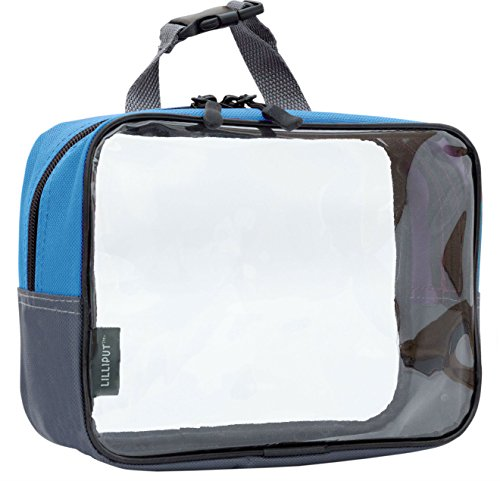 Clear Travel Toiletry Bag, Cosmetic Bag, Quart Sized Packing Organizer (Teal Green)