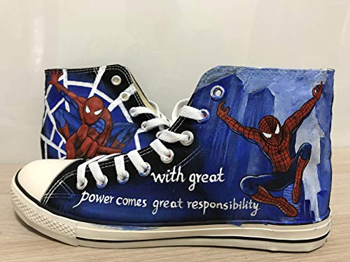 - Spider-Man Hand Painted Shoes Custom Shoes For Men Custom Chuck Taylors Men Women FREE SHPPING