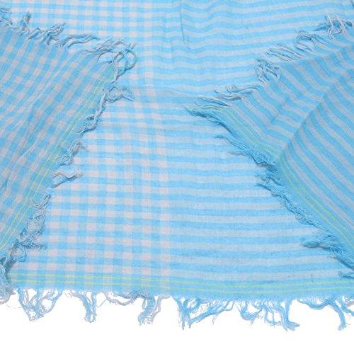 Cotton Azzurro Blue 1274w Bimbo Kid Sciarpa Scarf Light Woolrich dU8Y8q