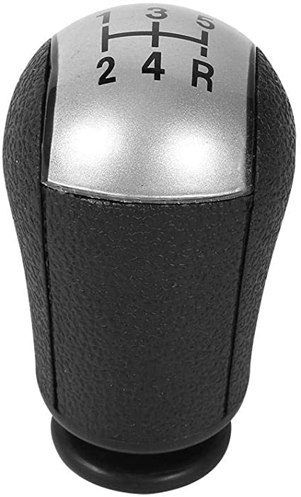 Arenbel Dice Manual Knob Universal Lever Stick Shifting Shift Head Car Speed Shifter Handle fit Most MT at, Black, Red