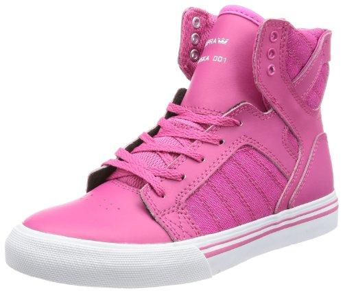 Supra KIDS SKYTOP - Altas de lona niño rosa - Pink (CRAZY PINK - WHITE PNK)