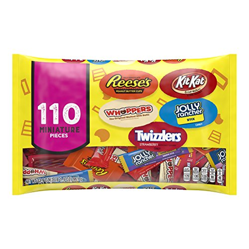 HERSHEY'S Chocolate and Sweets Assortment, Halloween Candy, 110 Pieces -