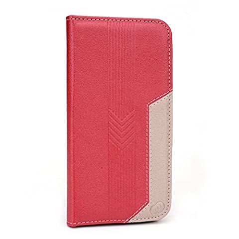 Kroo Flip Folio Wallet Case for Apple iPhone 6 (4.7 Inch) - Non-Retail Packaging - Red (12 South Iphone 6 Plus Dock)
