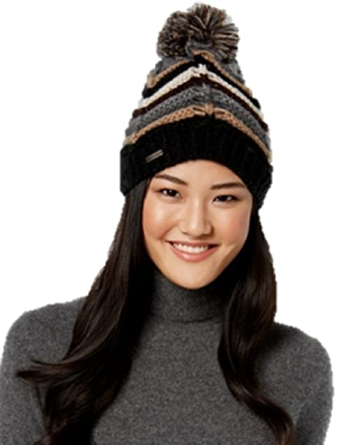 Steve Madden Chevron Pom Pom Beanie at Amazon Women s Clothing store  85ee7e38a81