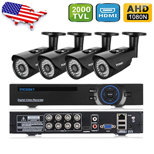 incoSKY 8CH Camera Security System, 4XIndoor/Ou...