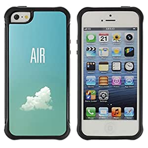 "Pulsar iFace Series Tpu silicona Carcasa Funda Case para Apple iPhone SE / iPhone 5 / iPhone 5S , Aire Piloto Plano Cielo Nube Verano Azul"""