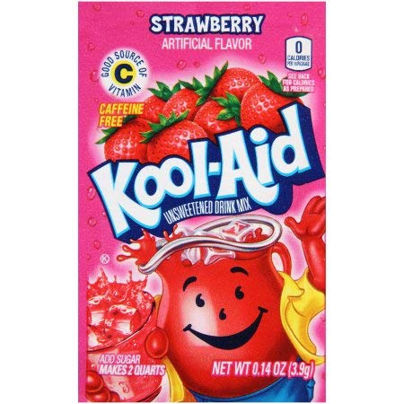 Kool-Aid Drink Mix, Strawberry (Pack of 24)