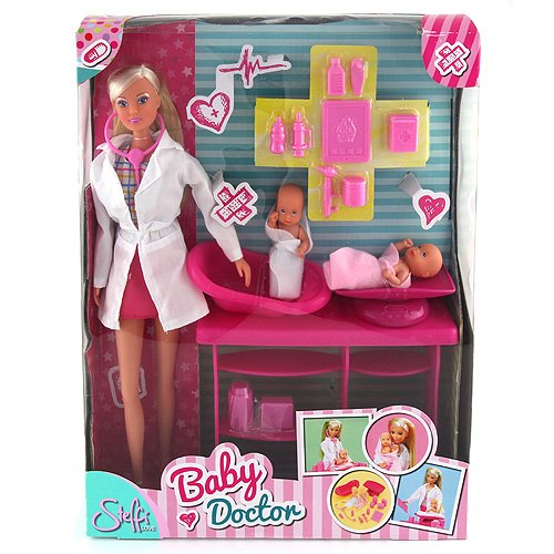 Steffi Love - Baby Doctor - Clinic Playset - includes Steffi Doll, 2 Babies &...