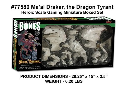 Reaper Miniatures 77580 Ma'al Drakar the Dragon Tyrant, Boxed Set by Reaper Miniatures
