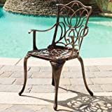 Gardena Outdoor Furniture Dining Set, Table and Chairs for Patio or Deck in Copper (7-Piece Set)