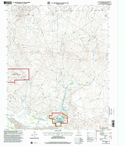 Flatland Fork (Lake Marvin TX topo map, 1:24000 scale, 7.5 X 7.5 Minute, Historical, 1998, updated 2001, 26.8 x 23 IN - Tyvek)