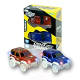 MIGE Car Track Glow in the Dark Toy Flashing Light Up Racing Tracks Jeep Car Fun Flexible Variable Track Set,Boys and Girls(pack of 2)