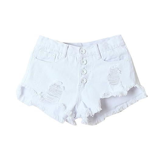 laamei Été Femmes Jeans Shorts Pantalons Déchiré Trou Taille Haute Hot Denim Mini Courts Pantalon de Plage Site Officiel U3Vel1KF