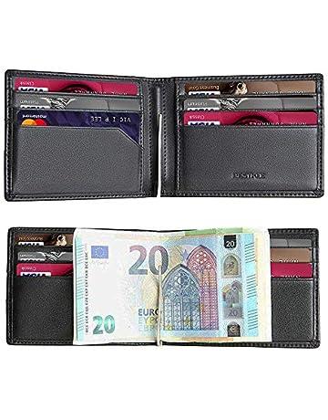 07f736c805 Portafoglio Uomo con RFID in Pelle Porta Carte di Credito Fermasoldi  Sottile Porta Tessere Elegante e