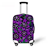 Summer Travel Luggage Cover with Zipper Personalized Protective Bag Flower Print