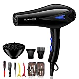 Blue negative ions-2200W High Power Hair Dryer for Faster Drying...
