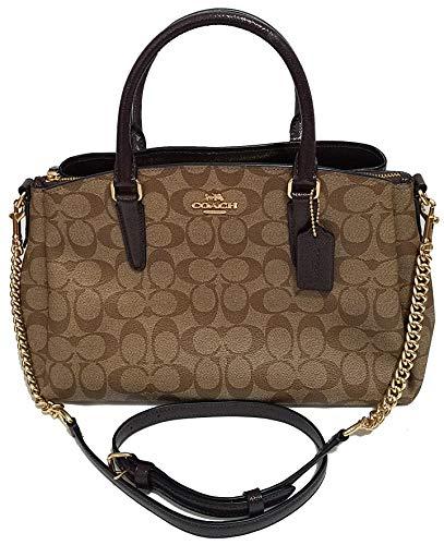 Coach Signature Print Trim Carryall Crossbody Bag Sling Womens Purse Nwt