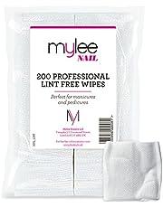 Mylee Lint Free Wipes Confezione da 200 Prep Clean Wipe NUOVE 100% salviettine per unghie che non lasciano residui.