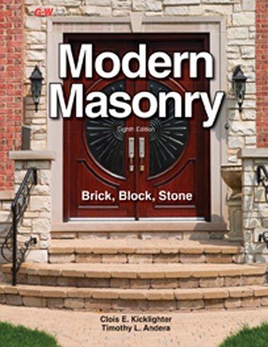 Modern Masonry: Brick, Block, Stone