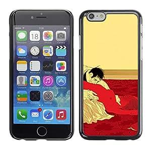 GOODTHINGS Funda Imagen Diseño Carcasa Tapa Trasera Negro Cover Skin Case para Apple Iphone 6 - sexo cama Hombre Mujer orales vampiro erótica caliente