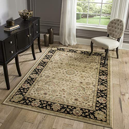 Momeni Rugs Ziegler Collection, Traditional Area Rug, 2 x 3 , Black